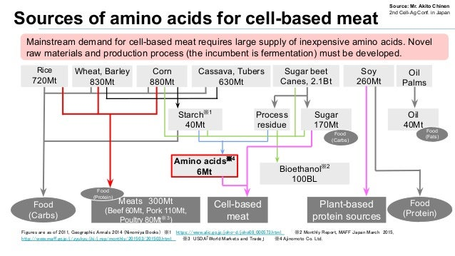 Mainstream demand for cell-based meat requires large supply of inexpensive amino acids. Novel raw materials and production...