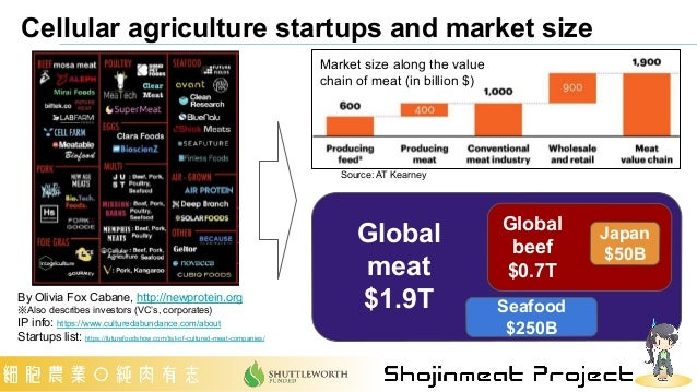 By Olivia Fox Cabane, http://newprotein.org ※Also describes investors (VC's, corporates)   IP info: https://www.culturedab...