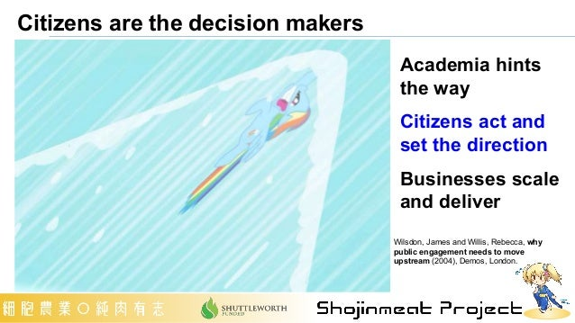Citizens are the decision makers Academia hints the way Citizens act and set the direction Businesses scale and deliver Wi...