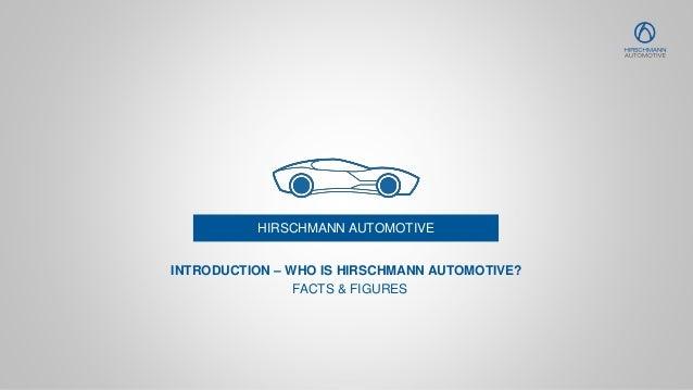 HIRSCHMANN AUTOMOTIVE FACTS & FIGURES INTRODUCTION – WHO IS HIRSCHMANN AUTOMOTIVE?