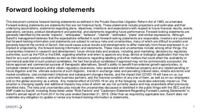 2 Forward looking statements This document contains forward-looking statements as defined in the Private Securities Litiga...