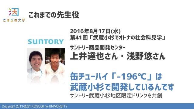 "Copyright 2013-2021 KOSUGI no UNIVERSITY 5>?@#ABC LMNSP›RN¡TU¢W X…NY6)*+,£f""¤:¥¦§A2< ¨c""~o©ª«@¬c-o stuv%&Dwxy%& z{|}~)^•€•..."