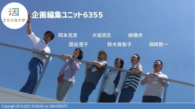 """Copyright 2013-2021 KOSUGI no UNIVERSITY )*+,-./01233 !""""#$ %&'( )*+, -./0( 123 4567"""