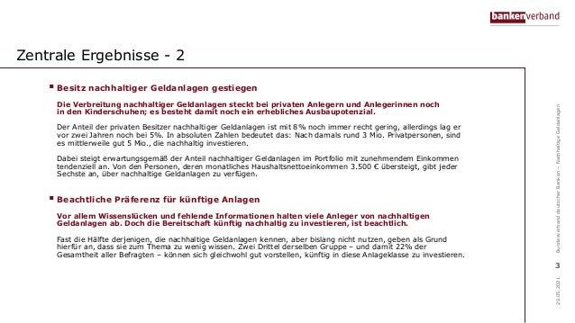 Online-Umfrage zur nachhaltigen Geldanlage Slide 3