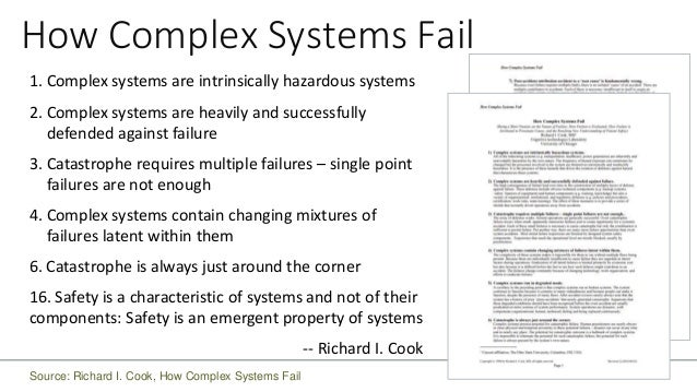 """TECHNICAL LEADERSHIP System Integrity """"A system is an interconnected set of elements that is coherently organized in a way..."""
