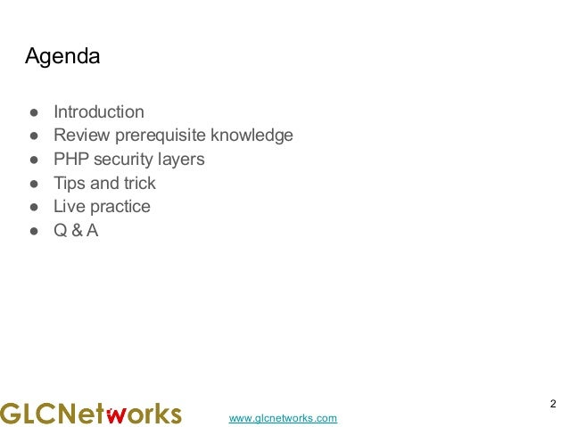 Securing PHP Application Slide 2