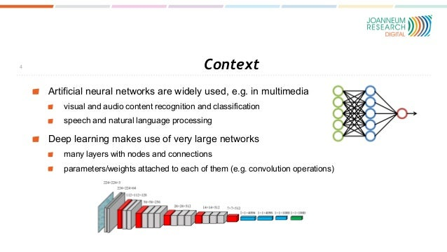 Context Artificial neural networks are widely used, e.g. in multimedia visual and audio content recognition and classifica...