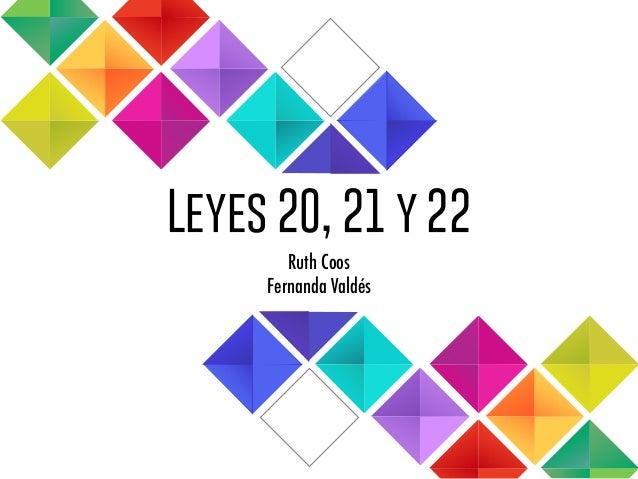 Leyes 20, 21 y 22 Ruth Coos Fernanda Valdés
