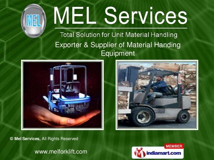 Exporter & Supplier of Material Handing <br />Equipment<br />