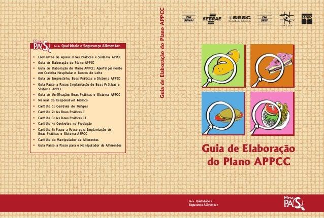 Guia de Elaboração  do Plano APPCC  Série Qualidade e  Segurança Alimentar  • Elementos de Apoio: Boas Práticas e Sistema ...
