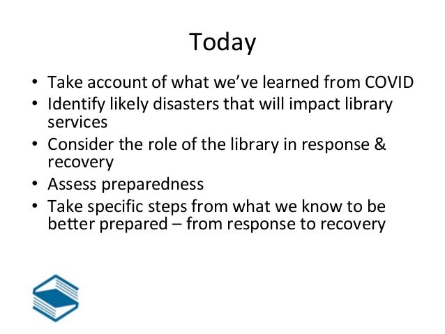 Disaster Planning for Libraries in Montana  Slide 2