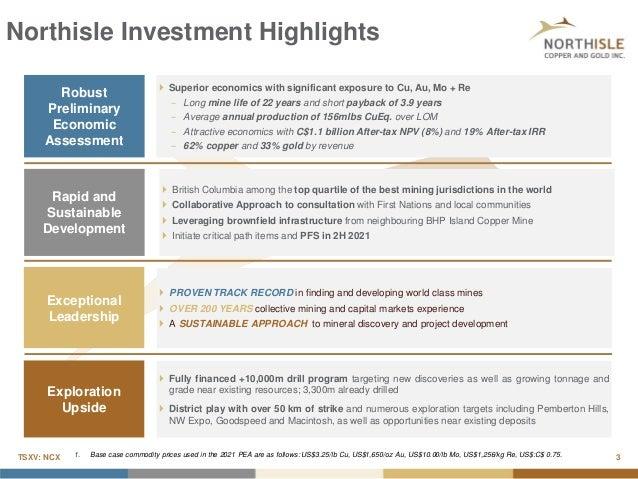Northisle September 2021 Corporate Update - Denver Gold Show Slide 3