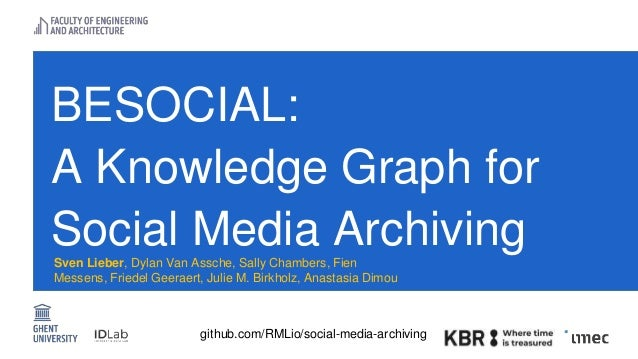 BESOCIAL A Knowledge Graph for Social Media Archiving Slide 3
