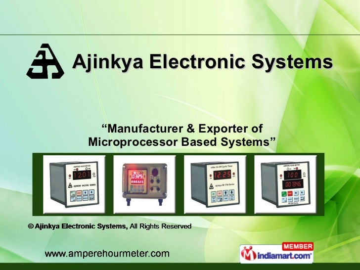 "Ajinkya Electronic Systems "" Manufacturer & Exporter of Microprocessor Based Systems"""