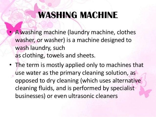 S3 Individual Presentation Washing Machine