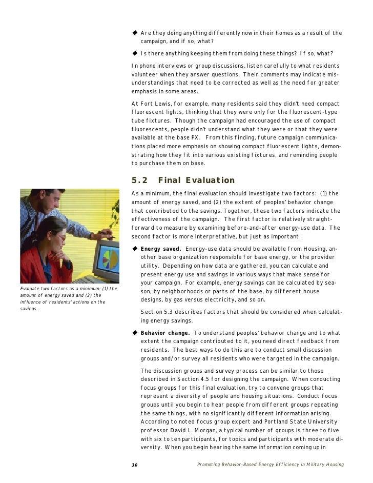 Promoting Behavior-Based Energy Efficiency in Military Housing