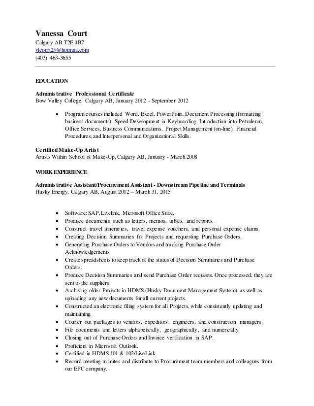 Luxury Husky Energy Resume Photo - Administrative Officer Cover ...
