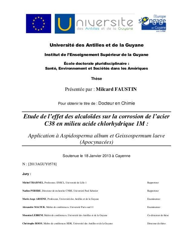 Université des Antilles et de la GuyaneInstitut de l'Enseignement Supérieur de la GuyaneÉcole doctorale pluridisciplinaire...