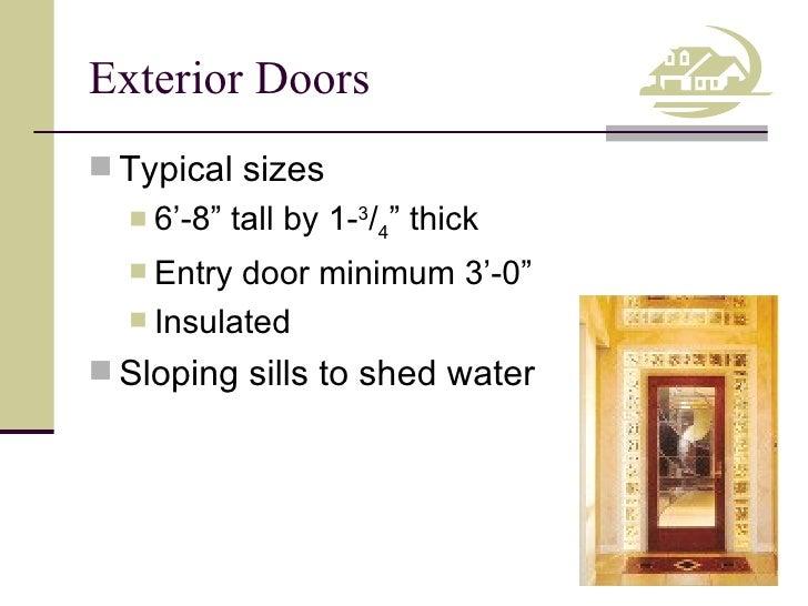 Exterior Doors ...