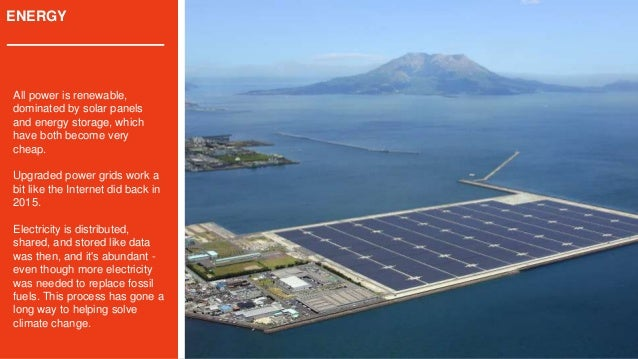 ENERGY All power is renewable, dominated by solar panels and energy storage, which have both become very cheap. Upgraded p...