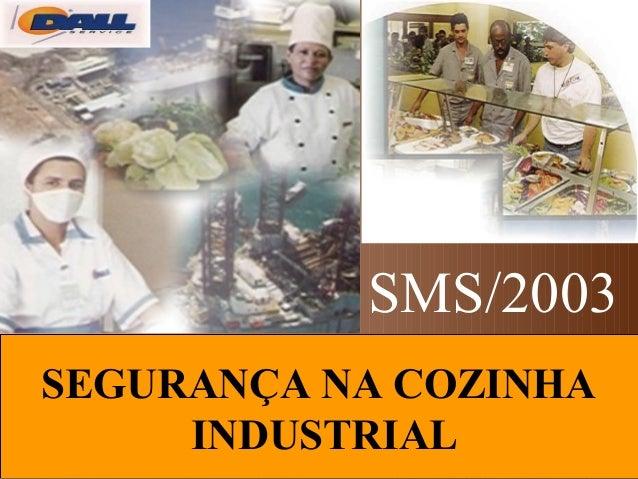 SEGURANÇA NA COZINHA INDUSTRIAL SMS/2003