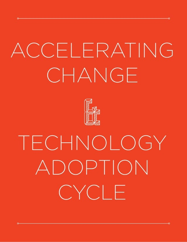 ACCELERATING CHANGE & TECHNOLOGY ADOPTION CYCLE