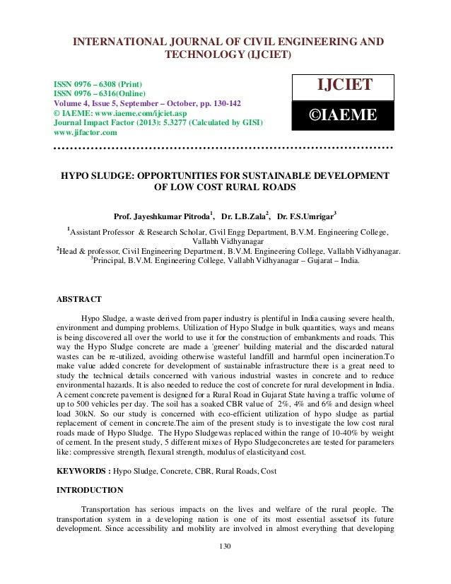 International Journal of Civil JOURNAL OF CIVIL ENGINEERING AND INTERNATIONAL Engineering and Technology (IJCIET), ISSN 09...