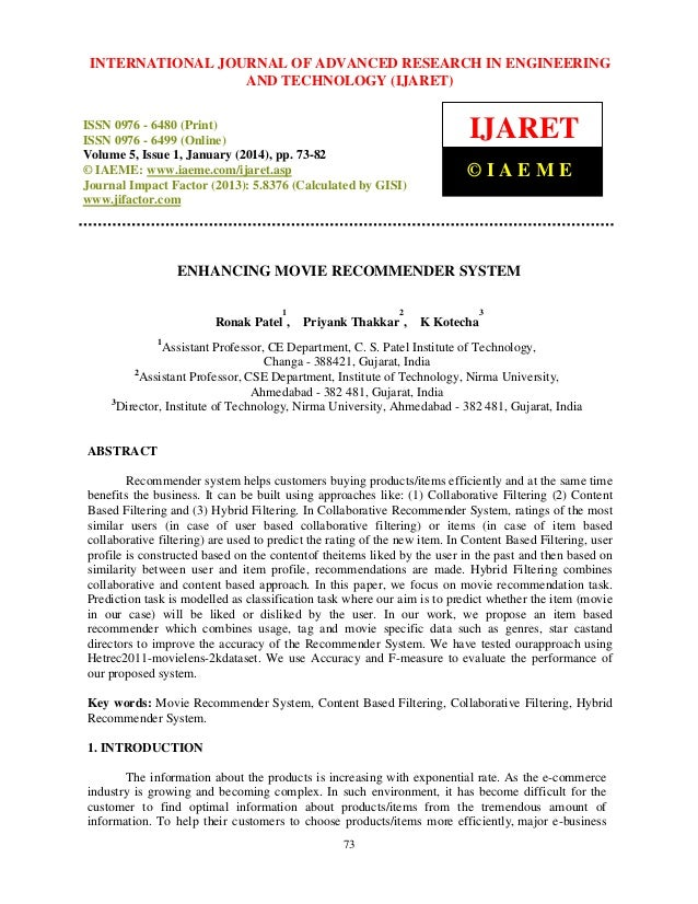 International Journal JOURNAL OF ADVANCED RESEARCH Technology (IJARET), INTERNATIONAL of Advanced Research in Engineering ...