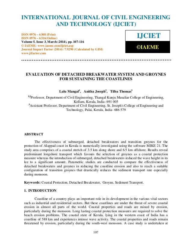 International Journal of Civil Engineering and Technology (IJCIET), ISSN 0976 – 6308 (Print), ISSN 0976 – 6316(Online) Vol...