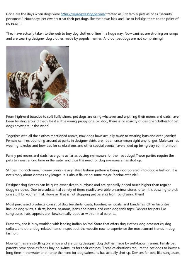 Designer Dog Clothing - Hot Doggy Couture