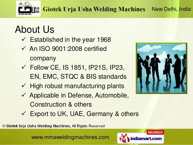 New Delhi, IndiaAbout Us  Established in the year 1968  An ISO 9001:2008 certified   company  Follow CE, IS 1851, IP21S...