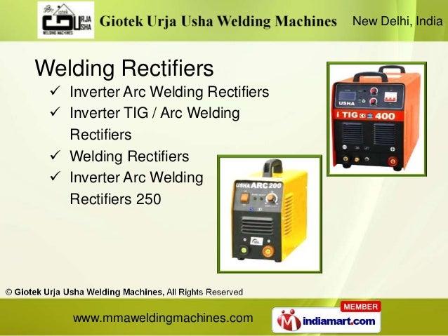 New Delhi, IndiaWelding Rectifiers  Inverter Arc Welding Rectifiers  Inverter TIG / Arc Welding   Rectifiers  Welding R...