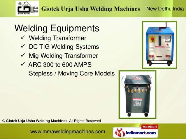 New Delhi, IndiaWelding Equipments    Welding Transformer    DC TIG Welding Systems    Mig Welding Transformer    ARC ...