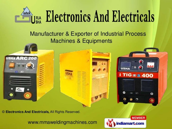 Manufacturer & Exporter of Industrial Process                         Machines & Equipments© Electronics And Electricals, ...