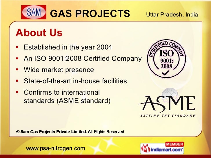Sam Gas Projects Private Limited Uttar Pradesh India Slide 2