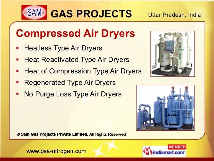 Compressed Air Dryers <ul><li>Heatless Type Air Dryers </li></ul><ul><li>Heat Reactivated Type Air Dryers </li></ul><ul><l...