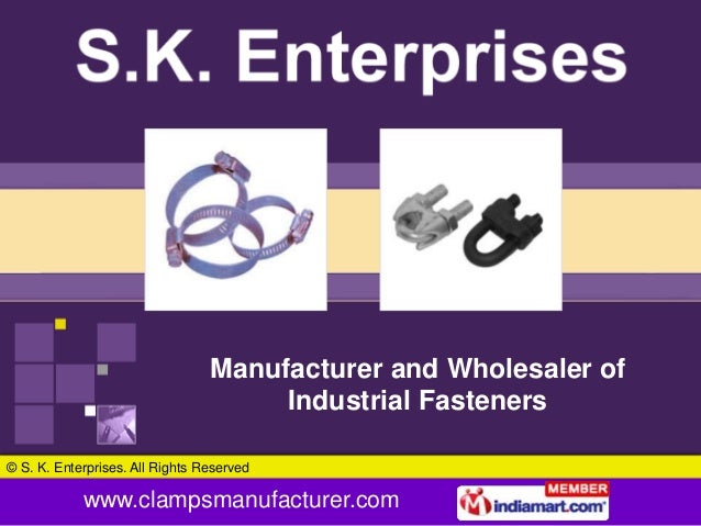 Manufacturer and Wholesaler of                                      Industrial Fasteners© S. K. Enterprises. All Rights Re...