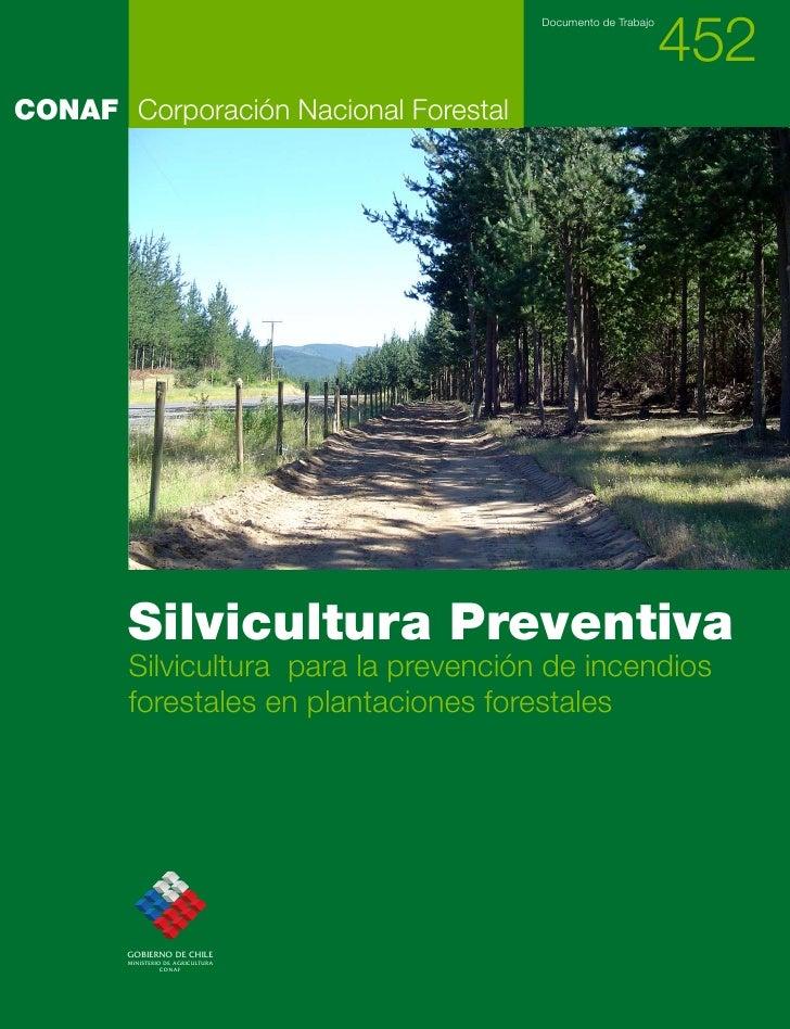 452                                       Documento de TrabajoCONAF Corporación Nacional Forestal        Silvicultura Prev...