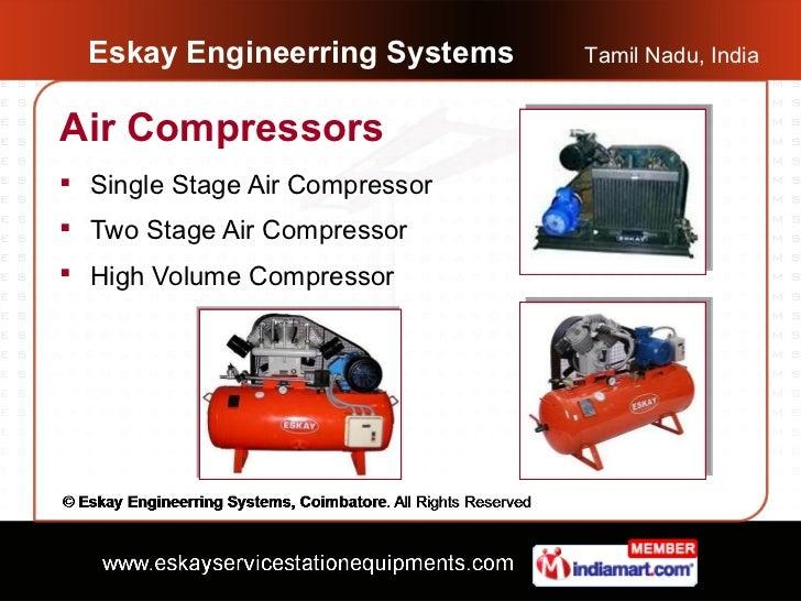 Eskay Engineerring Systems    Tamil Nadu, IndiaAir Compressors Single Stage Air Compressor Two Stage Air Compressor Hig...