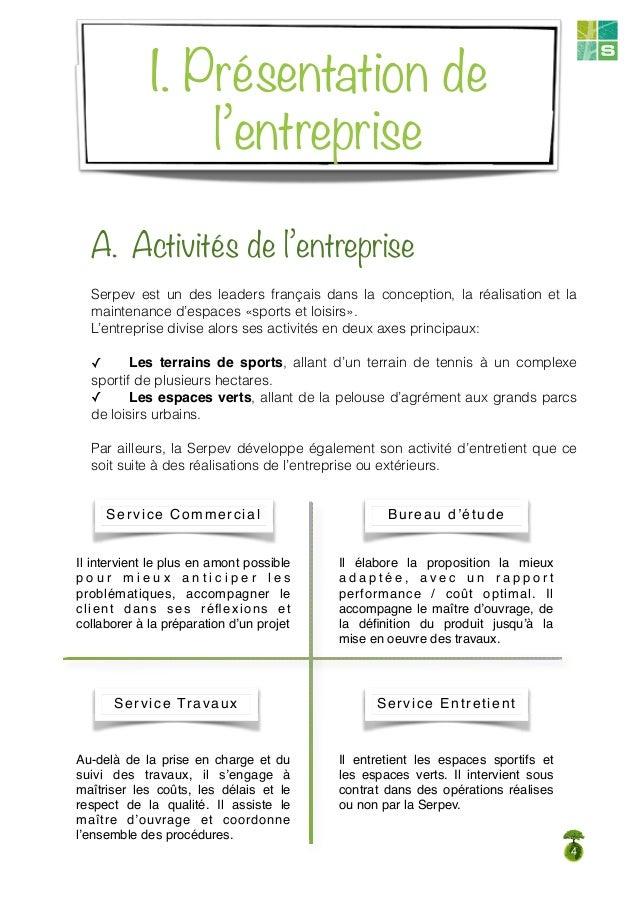 Internship report for Les espaces verts urbains