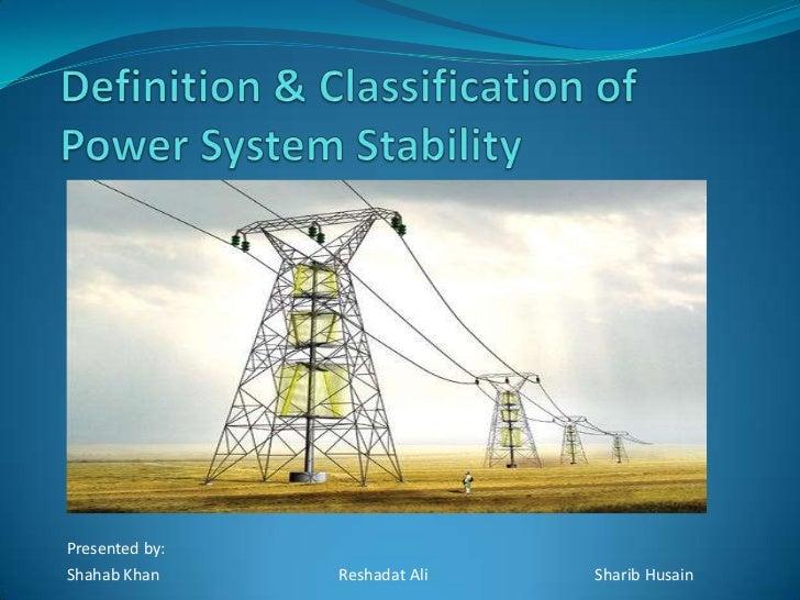 Power System Stabilizers