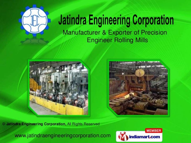 Manufacturer & Exporter of Precision                                         Engineer Rolling Mills© Jatindra Engineering ...