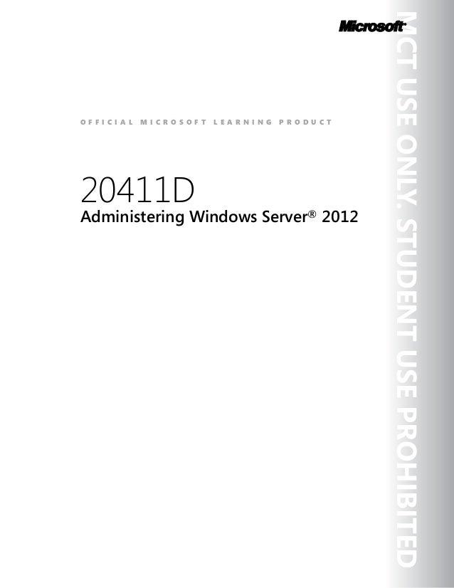 20411 Administering Windows Server 2012 Download