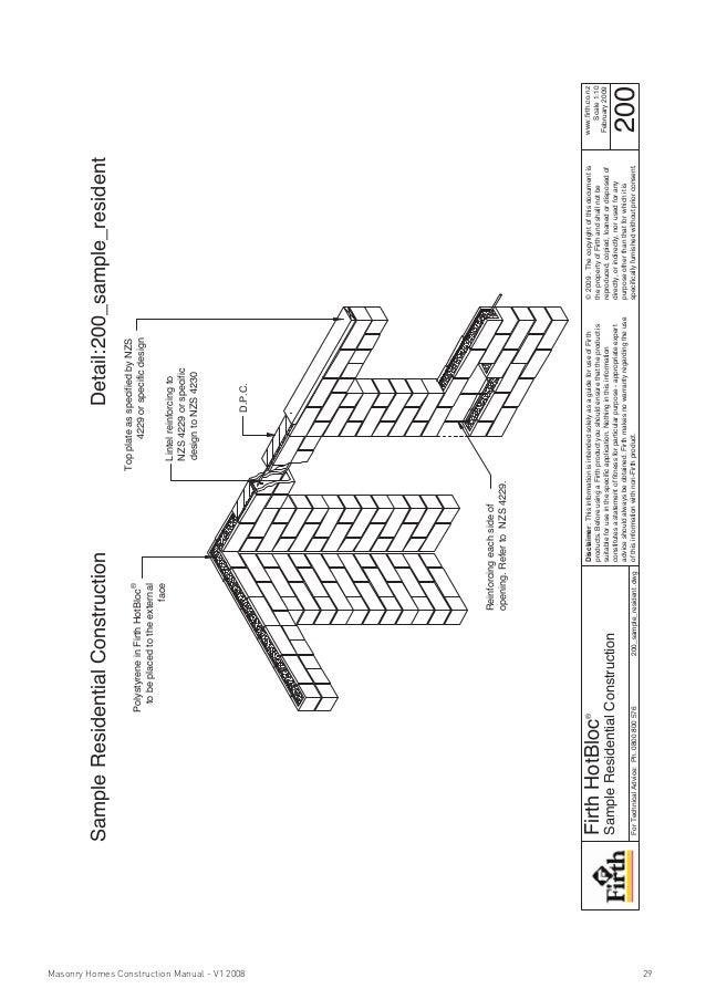 Masonry homes construction manual