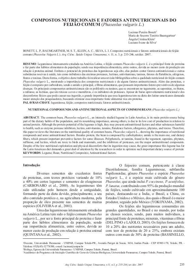 235Arq. Ciênc. Saúde Unipar, Umuarama, v.11, n.3, p. 235-246, set./dez. 2007 1 Docente, Universidade Paranaense - UNIPAR, ...