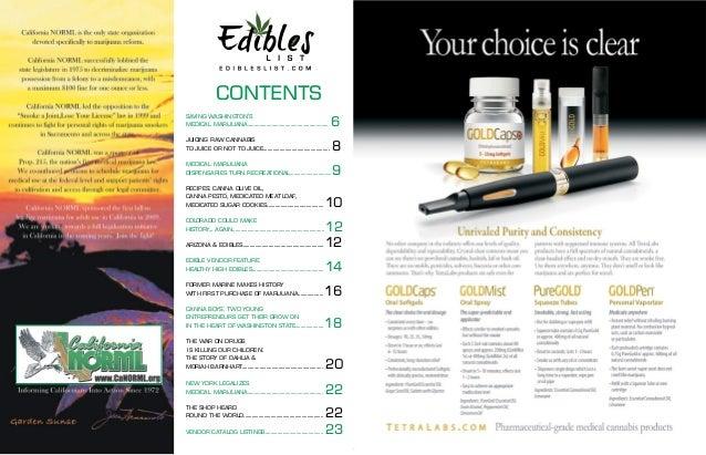 Dahlia's Law - Edibles List Slide 3