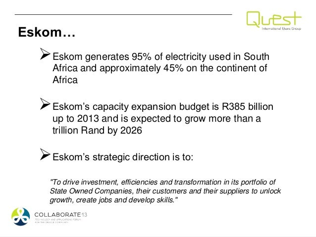 eskom case However, the document also comes amid growing concern about the financial position of eskom, which recently required an emergency.