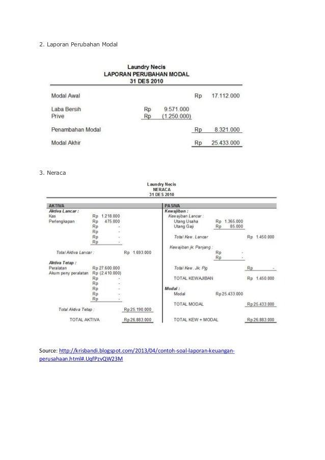 Contoh Laporan Keuangan Perusahaan Jasa Laundry Kumpulan Contoh Laporan