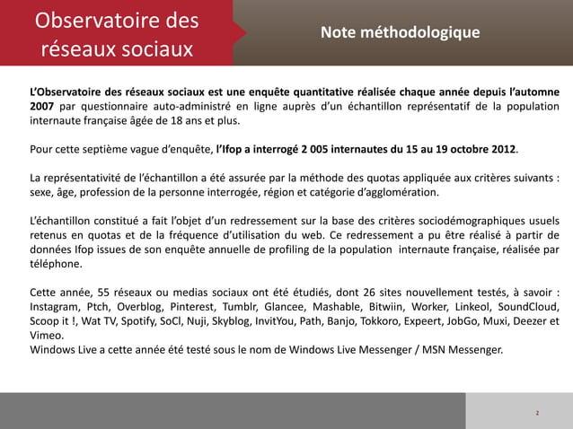Observatoire des                                            Note méthodologique réseaux sociauxL'Observatoire des réseaux ...