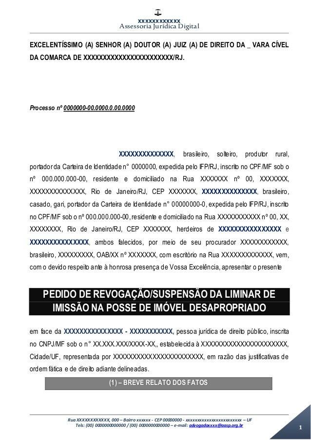 XXXXXXXXXXXX Assessoria Jurídica Digital Rua XXXXXXXXXXXX, 000 – Bairro xxxxxx - CEP 00000000 - xxxxxxxxxxxxxxxxxxxxxxxx –...